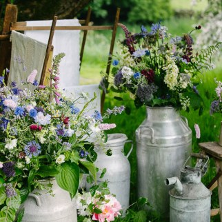 Homegrown Flowers Milk Churn Arrangements