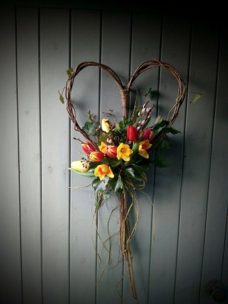 Biodegrateable Willow Heart
