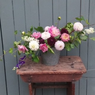 Homegrown Dahlia Arrangement