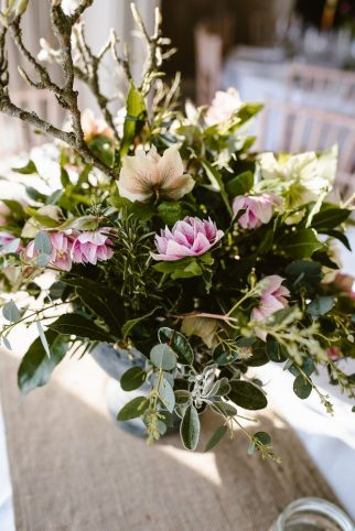 Hellebore Arrangement. Photo Georgina Brewster Photography.