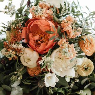 Sarah's bouquet, photo by Joe Stenson