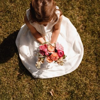 Rachael and Sonny's Wedding - Flower girl - Photo by Luna Photography