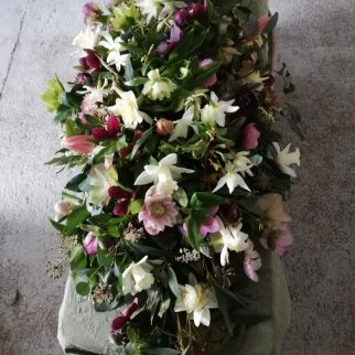 Spring Flower Double Ended Casket Spray