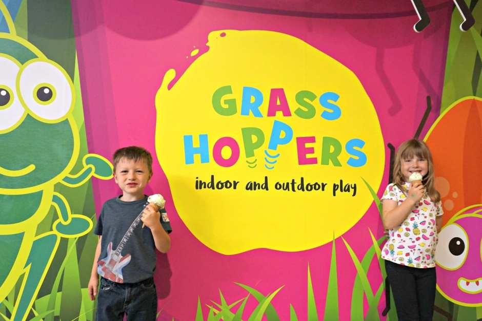 tong garden centre indoor and outdoor play area kids with ice cream