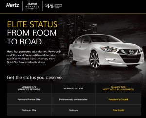 Hertz Marriott-SPG Partnership