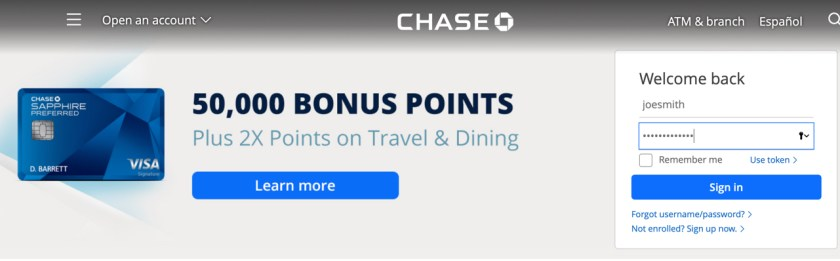 Chase Account Login