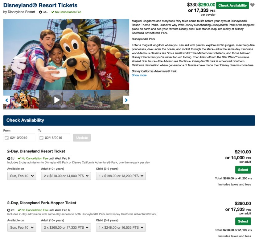 Disneyland Resort Tickets