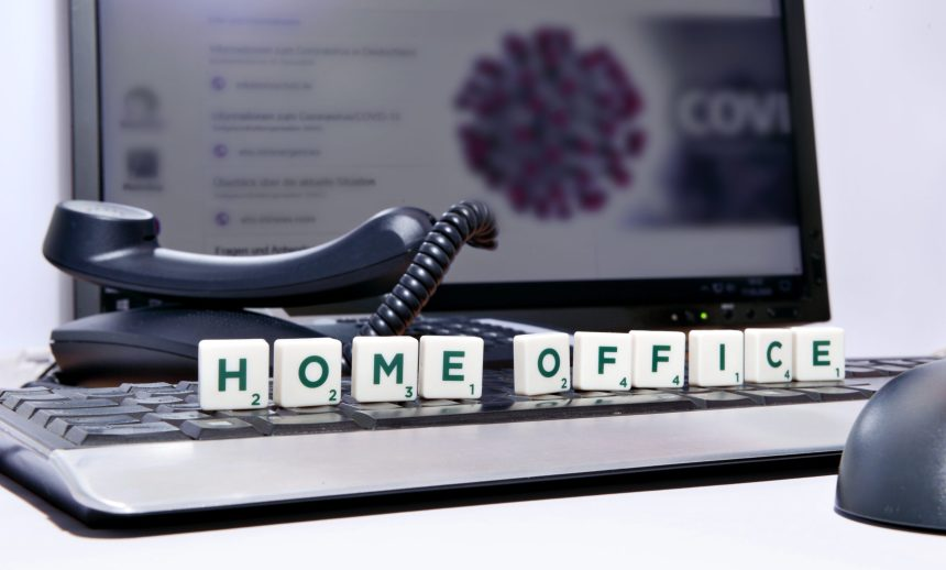 Home Office - Working from Home - Flu Virus