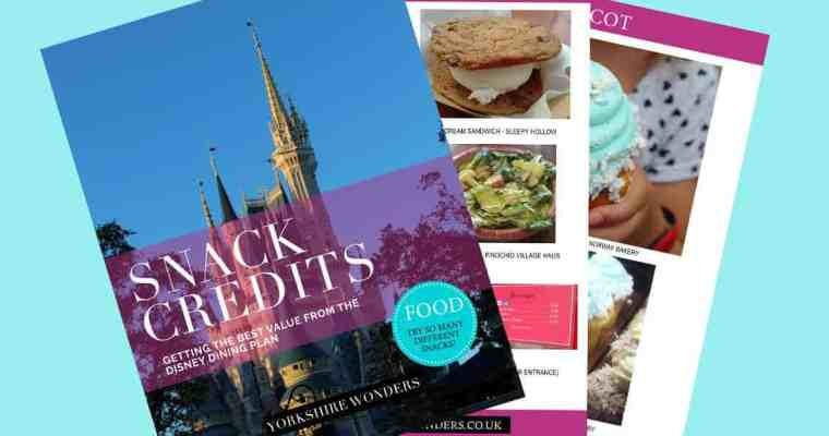 Handy Printable Pocket Guide of Snack Credits for Disney World