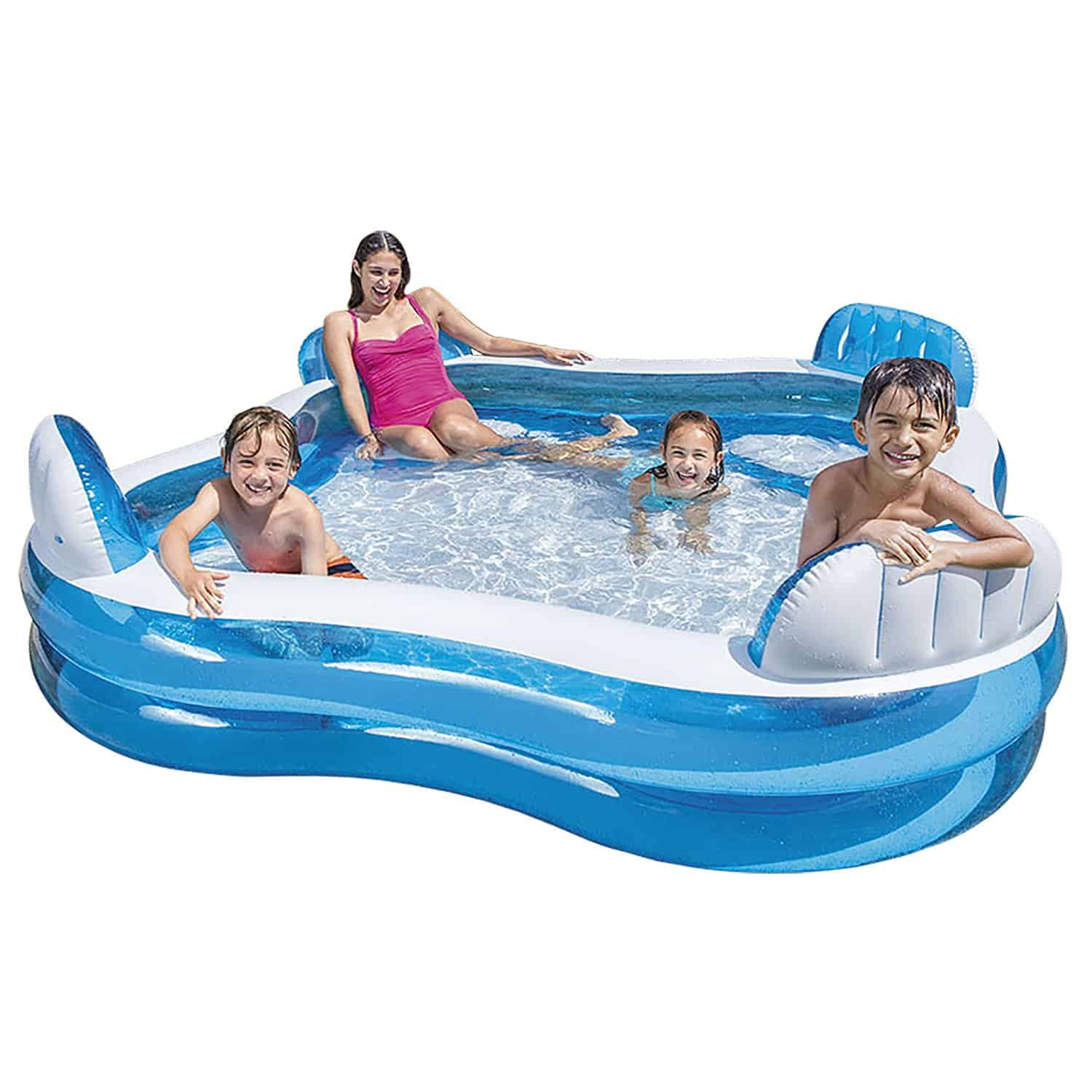 Best family inflatable pool with seats enjoy the summer yorkshire wonders for Intex swim centre family lounge pool cover