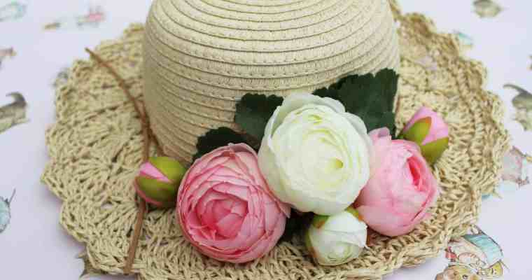 How to Decorate a Summer Straw Hat or Easter Bonnet