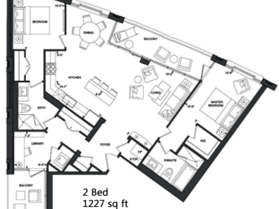 181 Davenport Condos - 2-bed condo for sale Floorplan