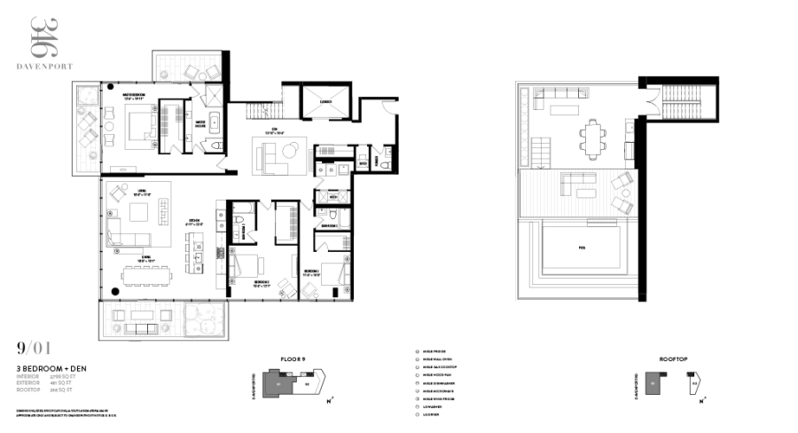 346 DAVENPORT - FLOORPLAN THREE BEDROOM TERRACE SUITE 2799 SQ FT