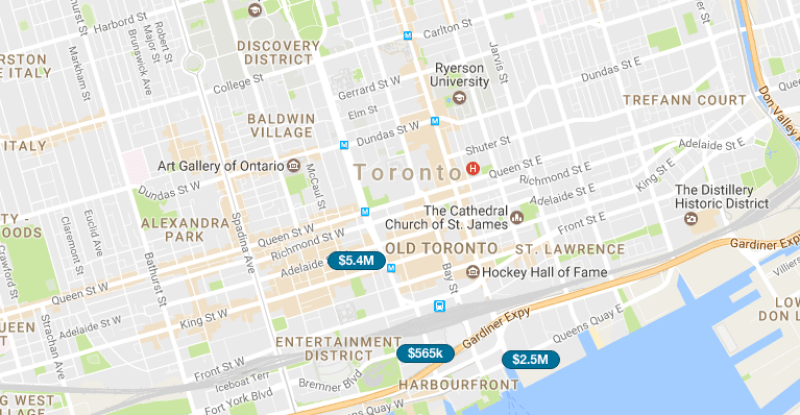 TORONTO PENTHOUSE FOR SALE - SAVED MAP SEARCH