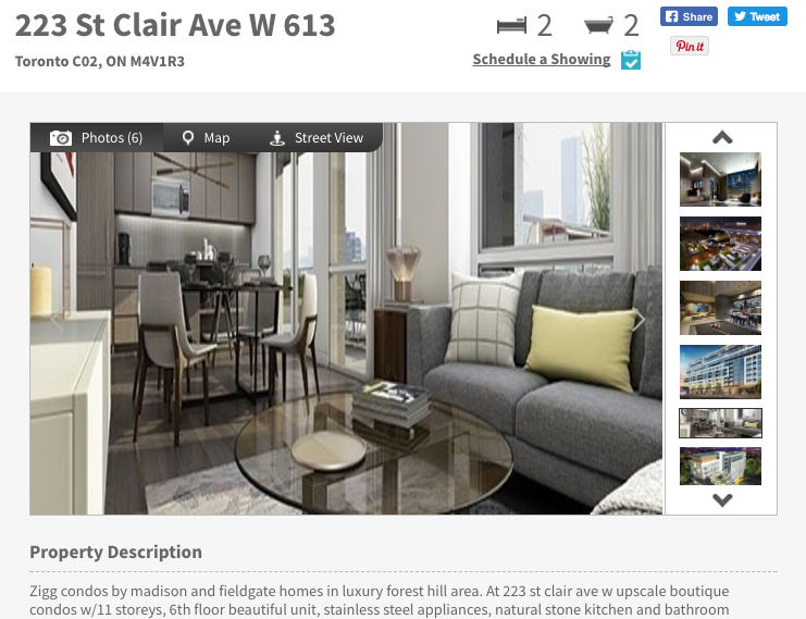223 St. Clair Condo for Sale - Two Bedroom - Call Yossi KAPLAN
