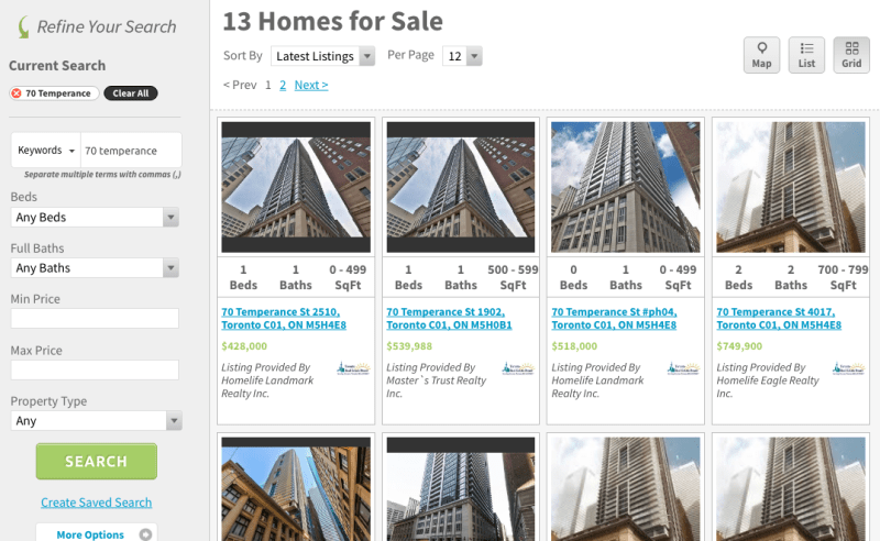 70 Temperance Condos for Sale - Indx Condos Live Listings Toronto Financial District
