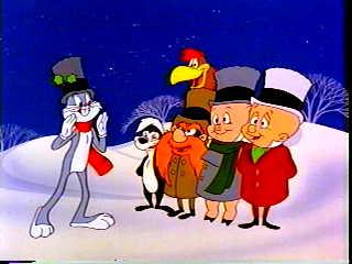 scroogeyosemite sam cratchitporky pig three ghostsomitted tiny timtweety jacob marleybugs bunny - Porky Pig Christmas