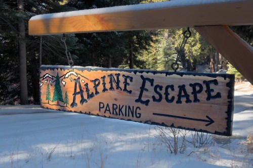 alpine escape sign