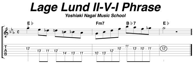 Lage Lund Ⅱ-Ⅴ-Ⅰ Phrase