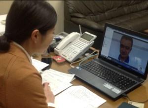 WEBカメラを使用した日本語習熟度テスト