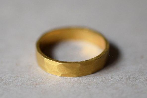 Men Ring Hammered