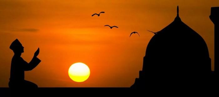夕陽とモスク
