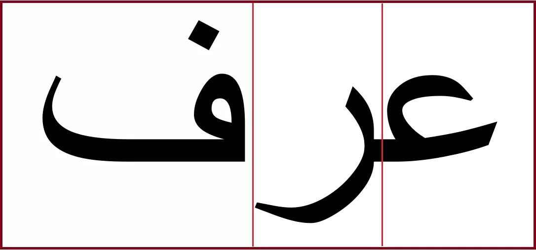 「知る」のアラビア語「アラファ」区切り線込み