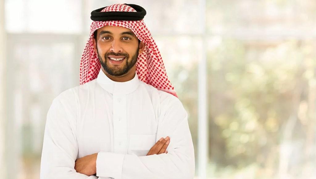 笑顔のアラブ人