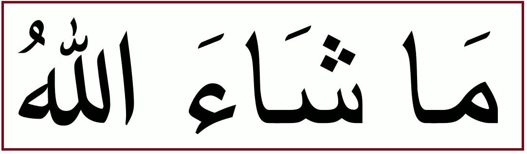 アラビア語で「素晴らしい」を意味する「マーシャーッラー」