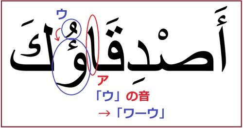 「あなたの友達」を意味するアラビア語の複数形「アスディカーウカ」