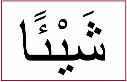 「もの」を意味するアラビア語の対格のカタチ「シャイアン」