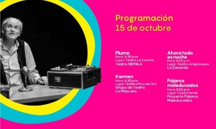 Festival Internacional de Teatro de Cali para hoy 15 de octubre