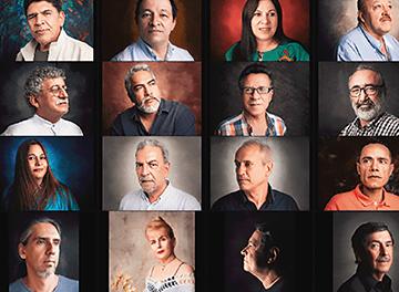 Exposición de retratos de escritores regionales
