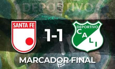 Deportivo Cali empata en Bogotá y suma 1 punto.