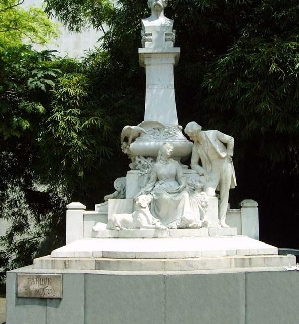 Monumento a María de Jorge Isaac en el Cam