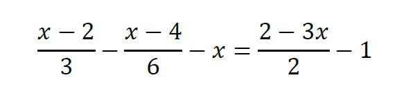 ecuaciones de primer grado con fracciones