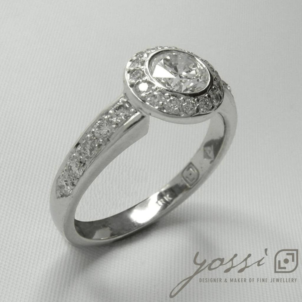 Diamond Ornament Halo Ring 42