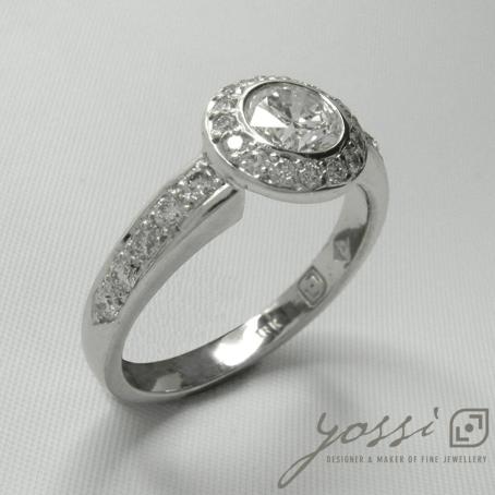 Diamond Ornament Halo Ring 3