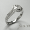 Diamond Ornament Halo Ring 2