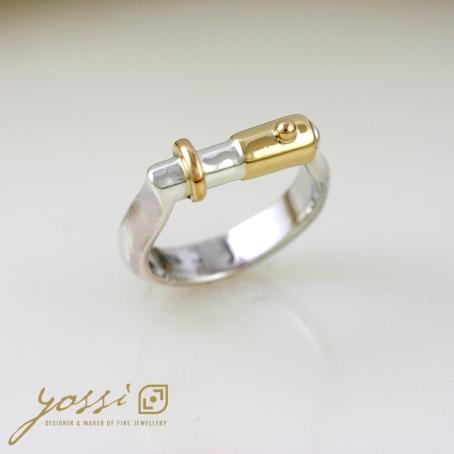 Jointly Gold & Silver Wedding Ring 3