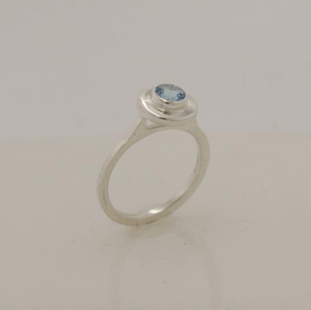 Simple Blue Topaz Ring 4