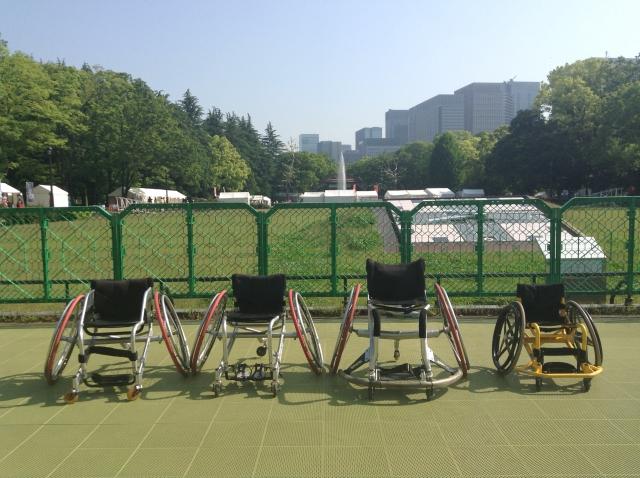 試乗用車椅子4種(バスケ、テニス、ラグビー、子供用)