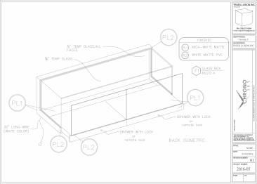 Shop Drawing for Floating Display Case