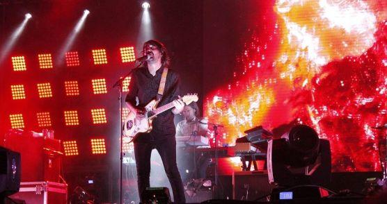El cantante (Noni) durante su actuación en el Mallorca Live.