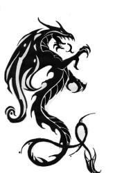 awesome tribal dragon tattoo design