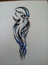 wolf tattoo drawing pencil drawings designs cool amazing tattoos creative draw deviantart religious awesome wolves moon tatoos tribal