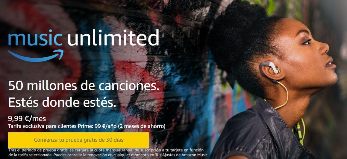 Escuchar la Mejor MÚSICA GRATIS ¡Amazon Music Unlimited! (prueba 30 días)