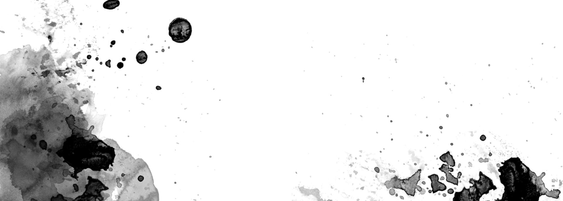 Illustration mit schwarzem Aquarell Fleck