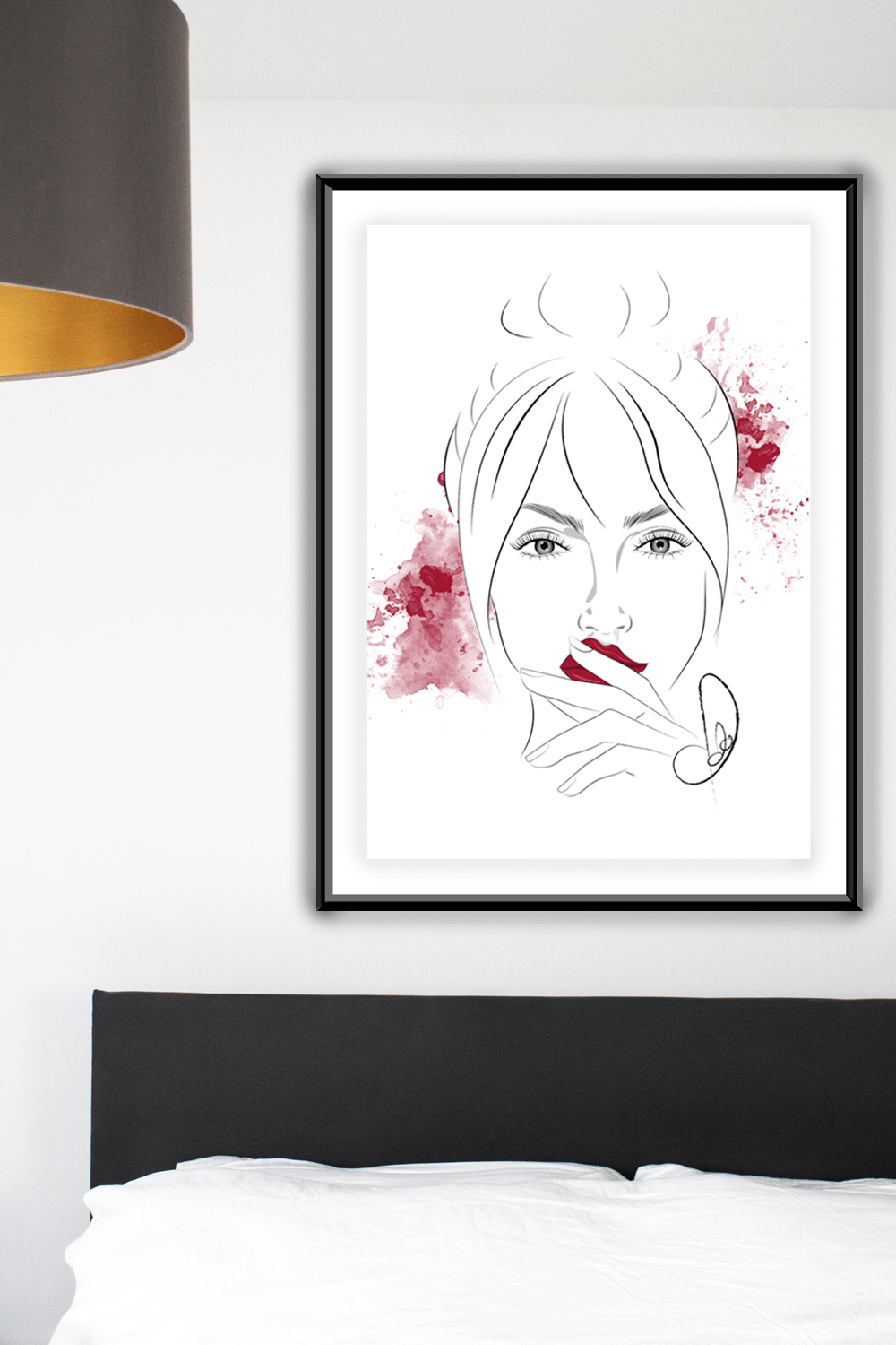 Poster Beauty Illustration Chery Red