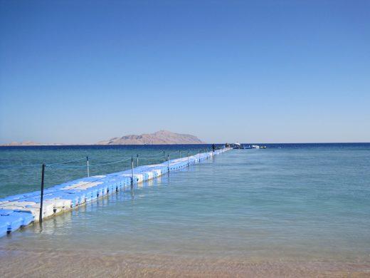 Sharm El Sheik, Jetty to the reef. Near Baron Resort.  Egypt
